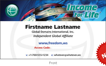 global domains international business cards