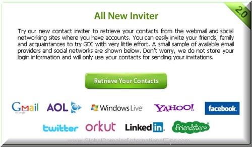 GDI Contact Inviter System